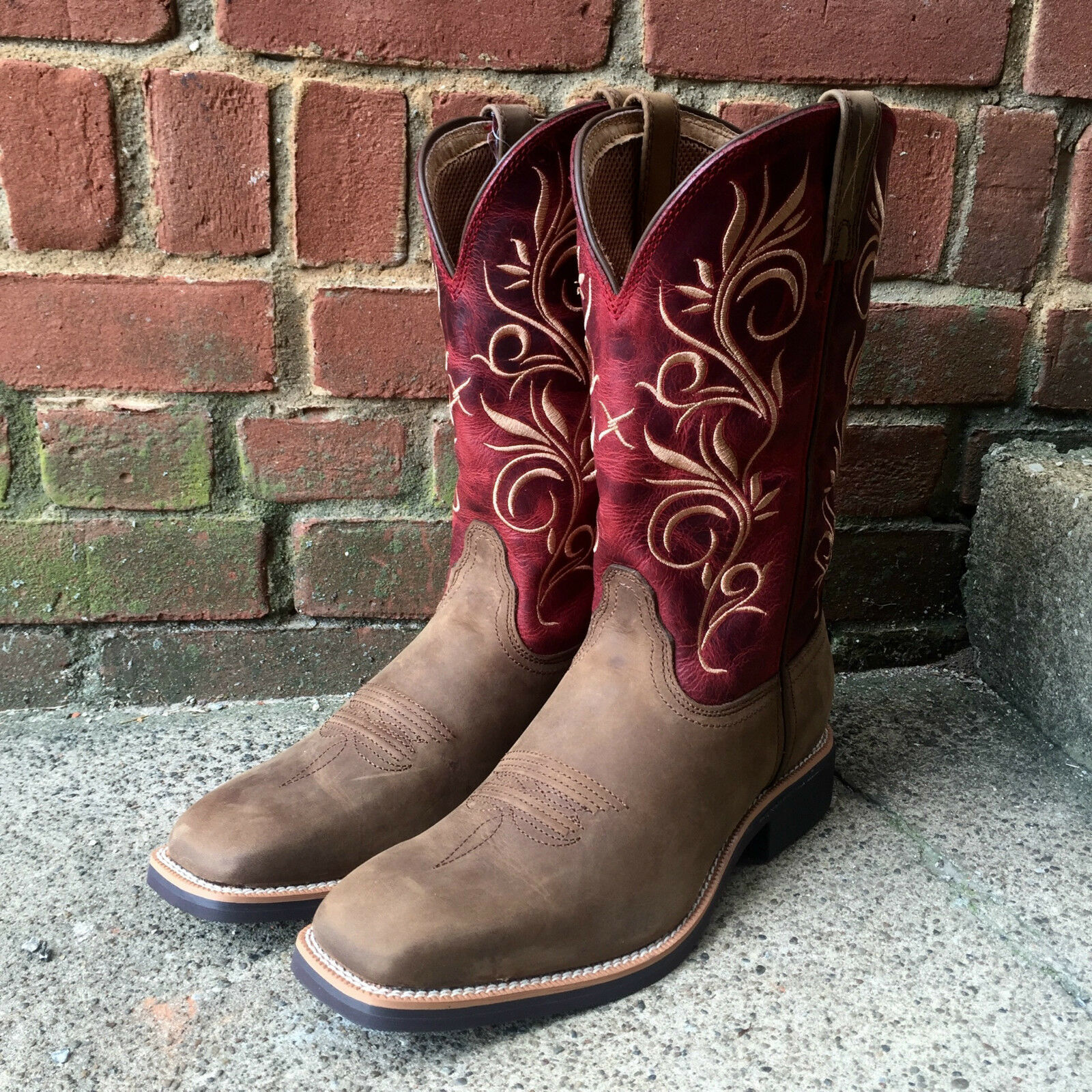 NWT LADIES LADIES LADIES TWISTED X RED TOP HAND SQUARE TOE COWGIRL BOOTS WTH0006  SUPER COMFY 85e901