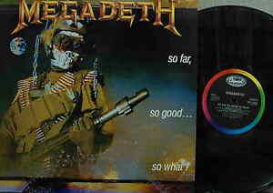 MEGADETH-So-Far-So-Good-So-What-UK-LP-Near-Mint