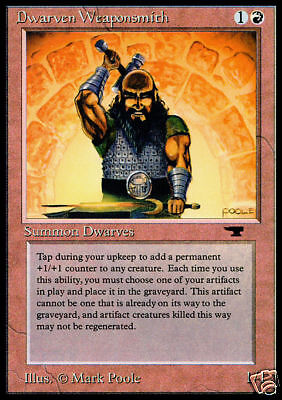 Dwarven Weaponsmith Antiquities NM-M Red Uncommon MAGIC GATHERING CARD ABUGames