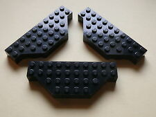 Lego 3 briques coins coupes noires set 4709 7237 6479/ black brick modified
