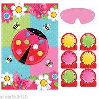 Garden Girl Party Game Poster (1) Birthday Supplies Fun Entertainment Lady Bug