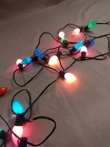 image is loading strand of vintage 1950s 70s outdoor christmas lights