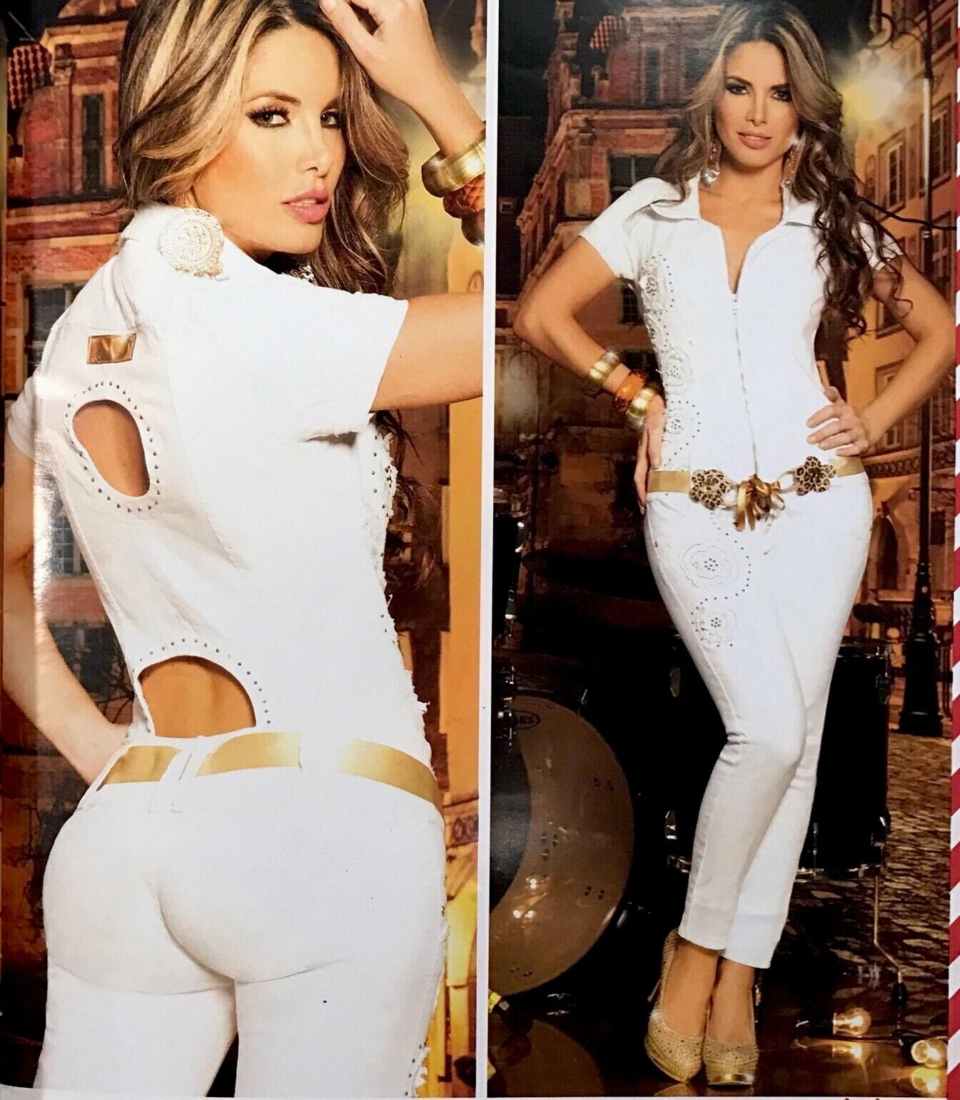 Colombian Enterizos Jumpsuits Asi Sea.  Size Available 5 6,7 8USA