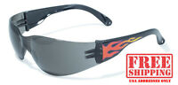 Global Vision Rider Flame Sunglasses With Smoke Lens Biker Glasses