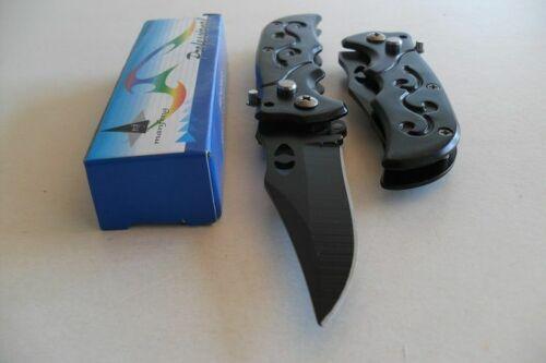 PC-065 Petit Couteau Pliant de Poche Lame Acier 7 cm Manche Acier 9 cm Outdoor