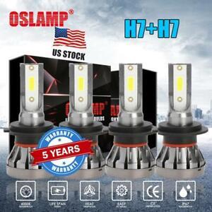 2018 New H7 4-Sided COB LED Headlight Kit High Low Beam Bulbs 1200W 180000LM HID Car & Truck LED Light Bulbs