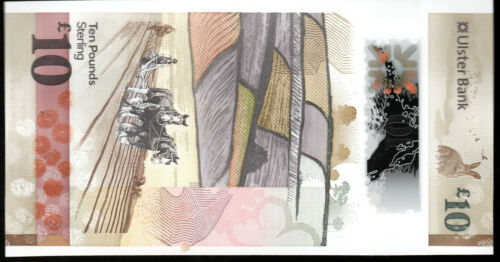 ULSTER bank LTD Belfast £10 ten pound banknotes 2018 new polymer issue note UNC