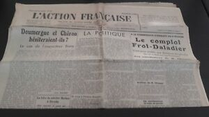 Journal Nationalist L Action Figure French 8 Mars 1934 N° 67 ABE