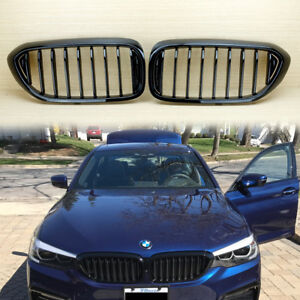details about gloss black front grille 2017 2018 for bmw 5 series g30 g31 sedan 530i 540i widebody e39 body kit 2014 bmw 5 series 535d turbo diesel