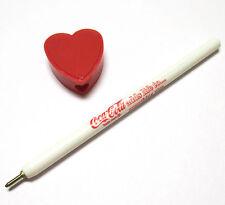 Coca-Cola Coke Stift Kugelschreiber mit Herz-Kappe rot Ballpen Pen USA 1970er