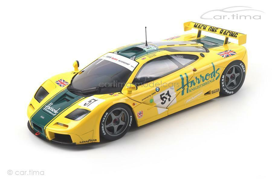 McLaren F1 GTR - 24h Le Mans 1995 - Bell   Bell   Wallace - Minichamps - 1 18 -  | Grüne, neue Technologie