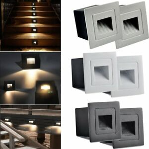 Details About 2 4 8x Outdoor Led Recessed Light Pathway Path Stair Step Wall Indoor Deck Lamp