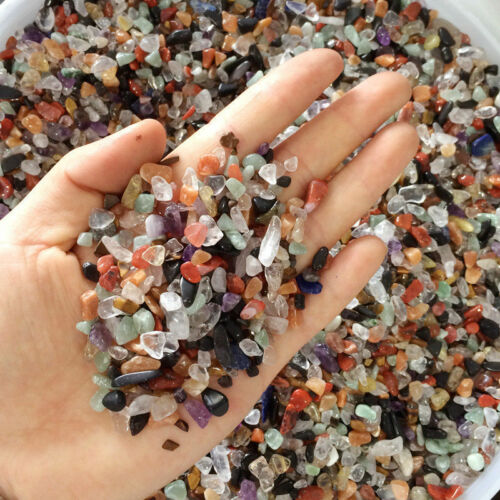 100g Natural Mixed Crystal Quartz Chip Healing Mineral Tumbled Stone Chakra