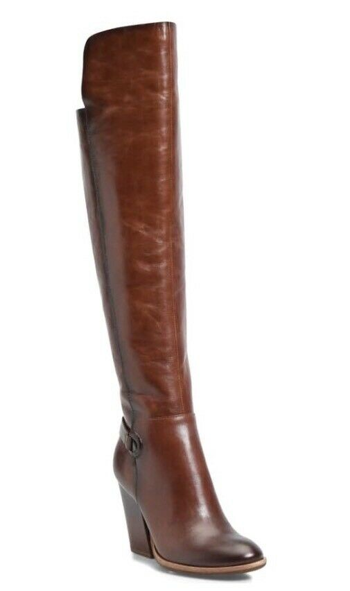 New Pavan Knee High Boot KORK-EASE Brown Leather Leather Leather 6.5 Eu 37 M Rts 300 c28571