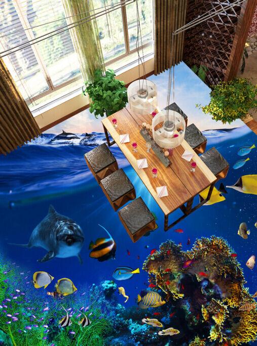 3D Deep Sea Fish 4366 Floor WallPaper Murals Wallpaper Mural Print AJ AU Lemon