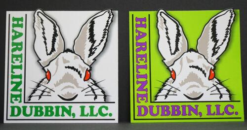 Hareline Sticker 1 x weiß 1 x grün selbstklebend 13 x 13 cm 2 Stück Hareline USA
