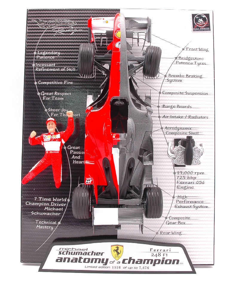 Ferrari 248 F1 Michael Michael Michael Schumacher 2006 Anatomy Of A Champion Elite Limited 1 18 c4b8ed