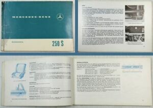 Mercedes-Benz-250S-W108-Betriebsanleitung-Bedienungsanleitung-1965