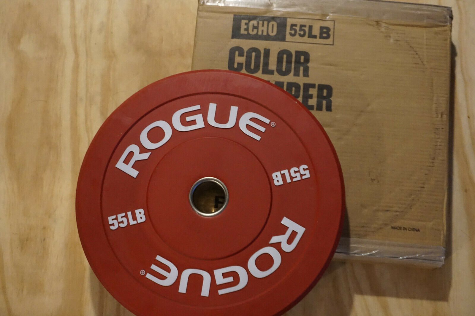 110lb Total 2 x 55lb Rogue Red Bumper Plates FREE SHIPPING! BRAND NEW
