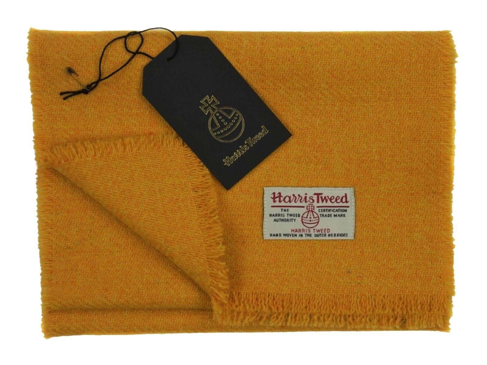 Harris Tweed Pure Wool Luxury Men, damen Fringed Scarf 60 60 60  150cm Length Mustard  | Zart  acb784