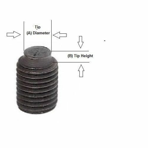 "Alloy Steel Half Dog Point Set Screw Extended Tip 3//8-24 x 1.0/"" Length 20 Pcs"