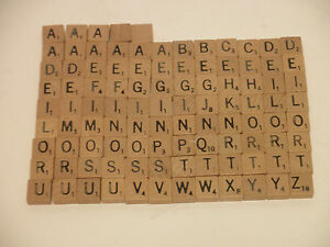 "Scrabble Travel 1//2/"" Size Wood Tiles Replacement Pieces Vtg Crafting Choice One"