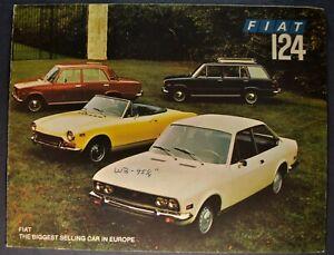 1972 Fiat 124 Catalog Brochure Spider Coupe Wagon Special Sedan Nice Original 72