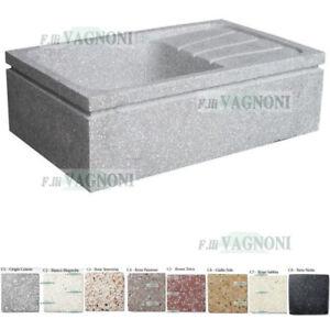Graniglia Di Marmo Nero.Dettagli Su Piccolo Lavandino In Graniglia Di Marmo E Cemento Cm 65x40 Vari Colori Acquaio