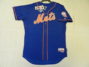 timeless design 9a7cf 3409f Details about Authentic New York Mets Cool Base NEW BLUE Alternate Jersey 48