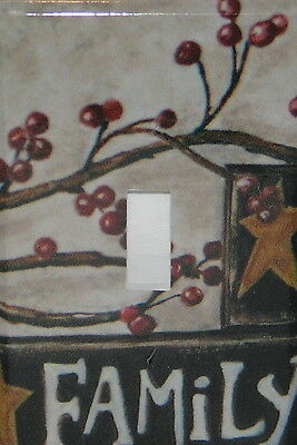 Family Barn Star Berries Single Switch plate Single toggle Cover