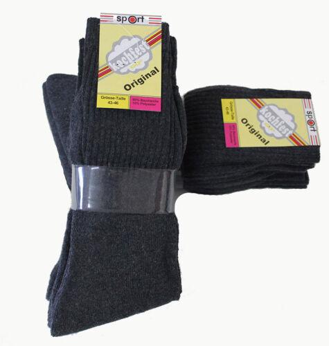 20 Paar Herren Sport Socken grau 90/% Baumwolle 43//46