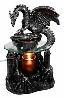 Castle Peak Guardian Dragon Electric Oil Burner Tart Warmer Aroma Scent Figurine