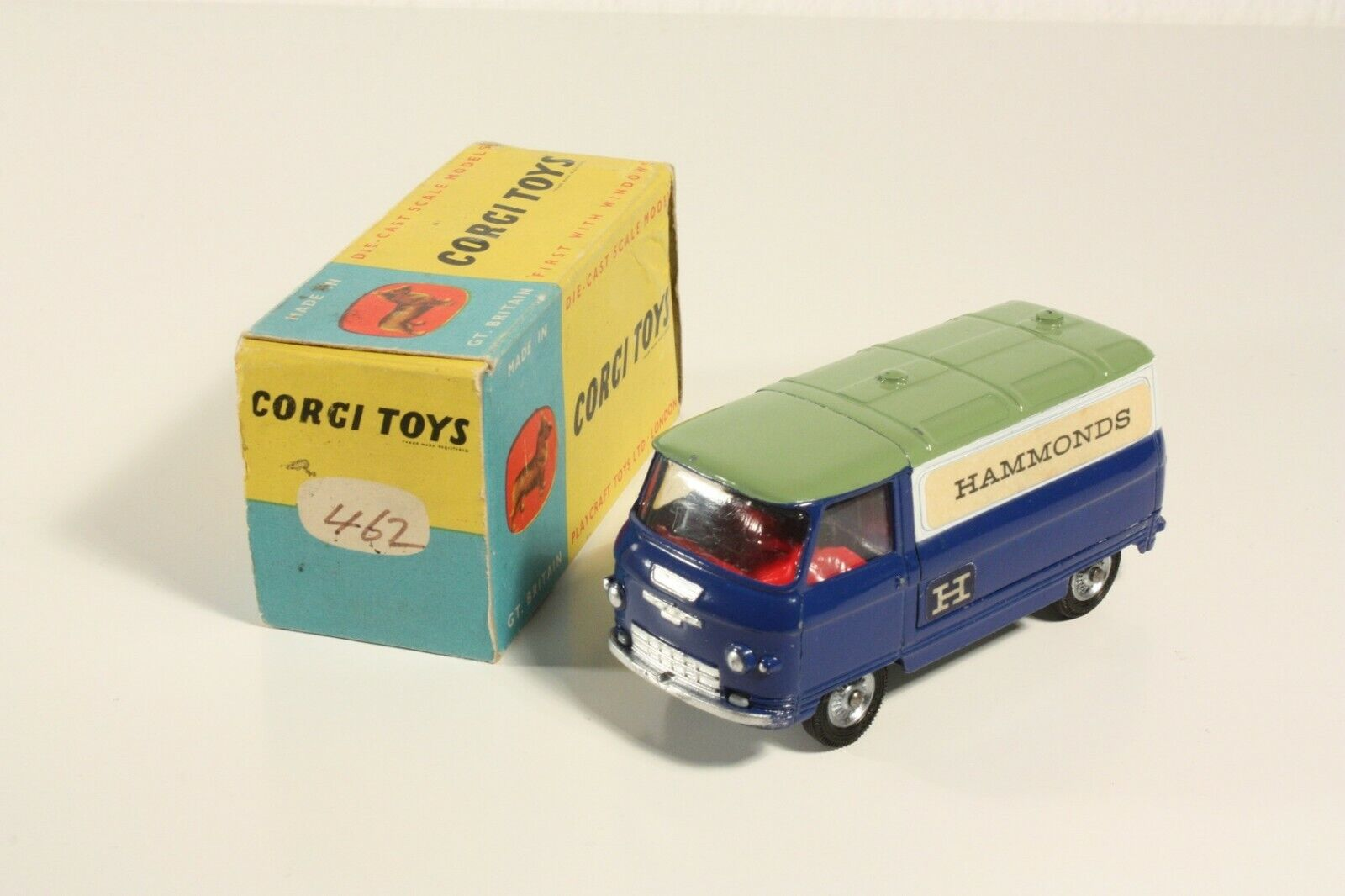 CORGI TOYS 462, commer Van Hammonds  , promotionel, Mint in Box  ab2298
