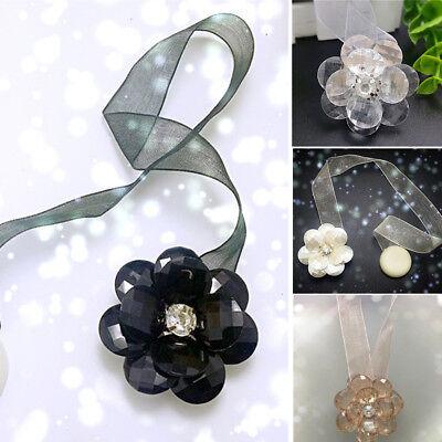 Kristall  Raffhalter Gardinenhalter Vorhang Zugband Magnetverschluss