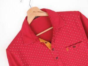 rp2213-Farah-POLO-ORIGINAL-Premium-Vintage-Rojos-De-Lunares-Talla-S