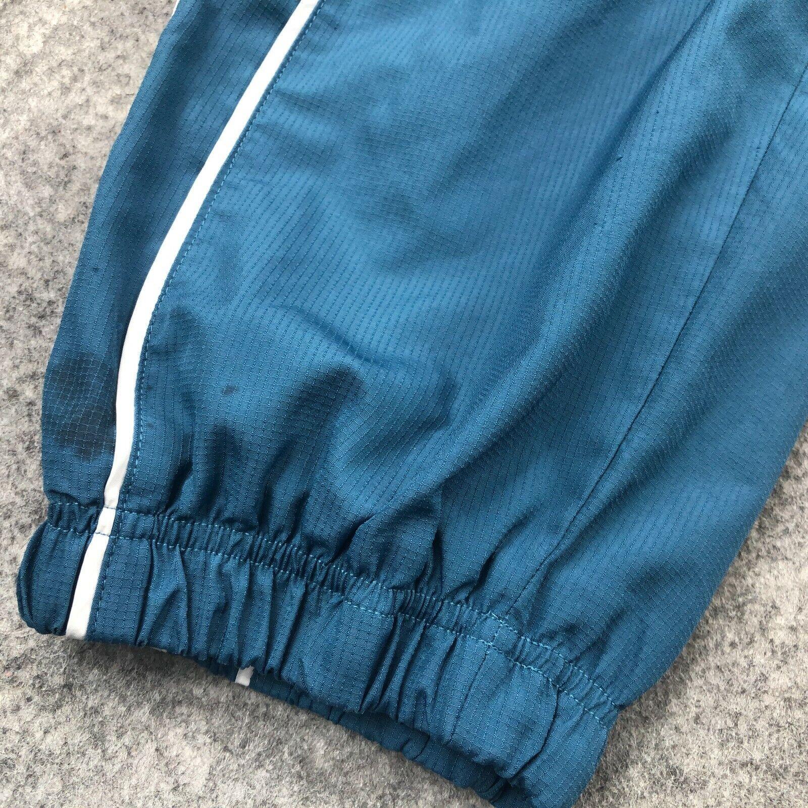 Adidas Pants Womens 2XL Blue Striped Windbreaker Tapered Track Pants Ladies *