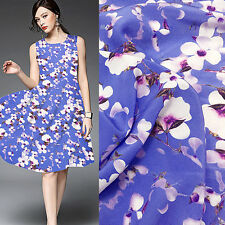 Amazing!beautiful floral print pure silk Crepe DE chine fabric 16momme,SCDC508