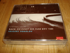 GRIGORY-SOKOLOV-Piano-Bach-Die-Kunst-der-Fuge-NAIVE-2CD-Signed-Signiert