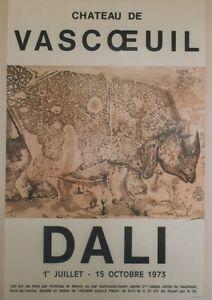 """""""DALI - EXPOSITION CHATEAU DE VASCOEUIL 1973"""" Affiche originale entoilée qZczsuX0-07200606-729997286"""