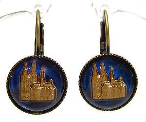SoHo-Ohrhaenger-vintage-altgold-bronze-bohemia-13mm-Koelner-Dom-hohe-Domkirche