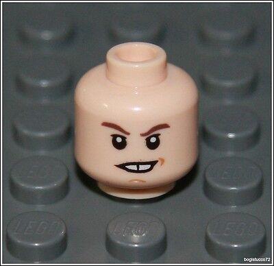 Lego Indiana Jones x1 Light Flesh Head Teeth Smile Batman Man Minifigure NEW