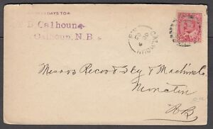 NEW-BRUNSWICK-SPLIT-RING-TOWN-CANCEL-COVER-034-CALHOUN-034