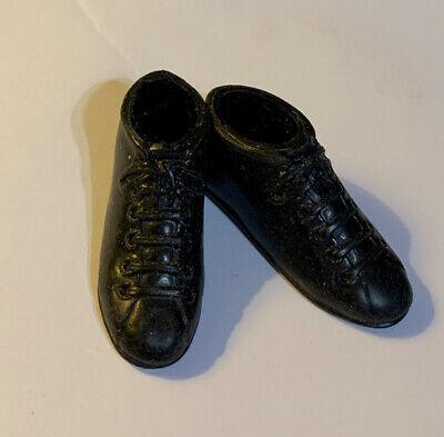 Vintage Barbie Ken Pak Boxing Black High Top Sneaker Shoes