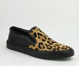 8fc654765e5c $595 New Gucci Men's Pony Hair Leopard Print Slip On Sneakers 386730 ...