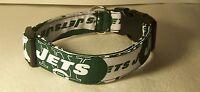 Wet Nose Designs York Jets Hand Made Dog Collar Football Nfl Green White