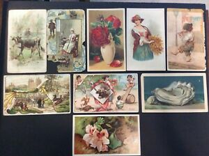 Vintage Arbuckle's Ariosa Coffee 1880-1890's Trade Cards Lot of 8 MISC