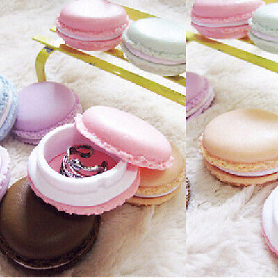Lovely Cake Shape Gift Jewelry Earrings Ring Pearl Necklace Display Box Case