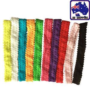 10Pcs Elastic Hairband Hair Band Yoga Dance Tie Lace Skinny Headband JHBA331
