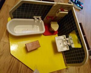 Puppen & Zubehör Puppenbad Für Puppenstube Puppenhaus Um 1970 Ddr Wanne Waschbecken Toilette Rari Elegant Und Anmutig