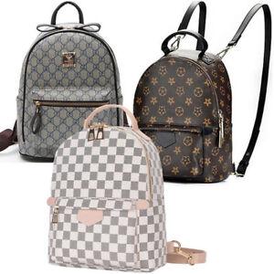 Image is loading Designer-Printing-Leather-Backpack-Women-Mini-Back-Pack- eed78aca216b